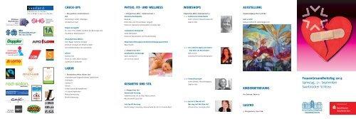 Programm des Frauengesundheitstages 2013 - Regionalverband ...