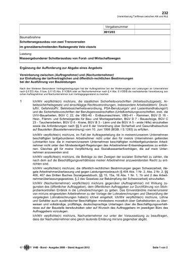 Ausschreibung 001303 EU Velo visavis 2013