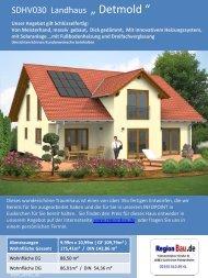 """SDHV030 Landhaus """" Detmold """""""