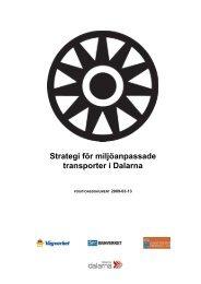 Strategi för miljöanpassade transporter i Dalarna - Region Dalarna