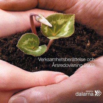 Årsredovisning 2003 (pdf 3,6 MB) - Region Dalarna