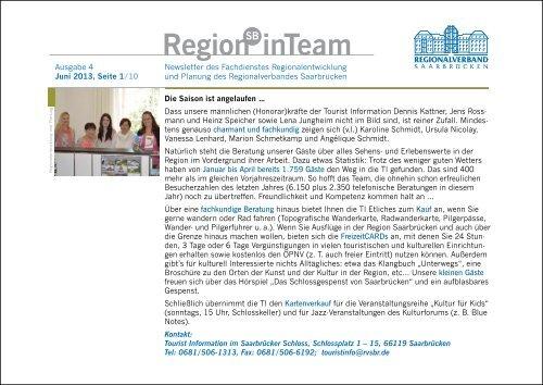 Newsletter - Regionalverband Saarbrücken