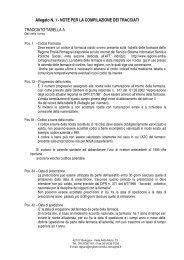 Note per la compilazione del tracciato record - Regione Emilia ...