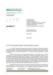 Flusso informativo Hospice - Norme per la gestione Anno 2013