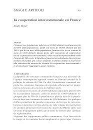 SAGGI E ARTICOLI La cooperation intercommunale en France