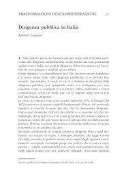 Dirigenza pubblica in Italia - Regione Emilia-Romagna