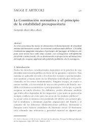 SAGGI E ARTICOLI La Constitución normativa y el principio de la ...