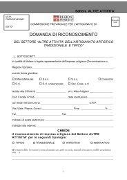 DOMANDA DI RICONOSCIMENTO - Regione Piemonte