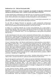 Deliberazione n. 94 – 13034 del 30 dicembre 2009 OGGETTO ...