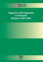 Rapporto annuale sull'Artigianato in Piemonte 2005– 2006