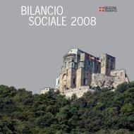 BILANCIO SOCIALE 2008 - Regione Piemonte