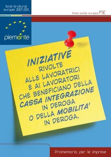 Pieghevole imprese - Regione Piemonte