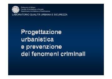 laboratorio qualità urbana e sicurezza - Regione Piemonte