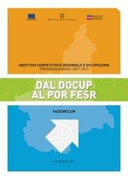 DAL DOCUP AL POR FESR - Regione Piemonte