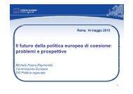 Il futuro della politica europea di coesione - Regione Piemonte