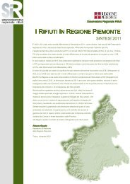 documento di sintesi dati 2011 - Regione Piemonte