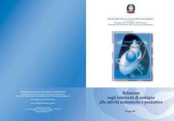 Relazione sugli interventi di sostegno alle attività economiche e ...
