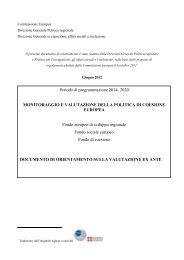 Monitoraggio e valutazione della politica di coesione europea