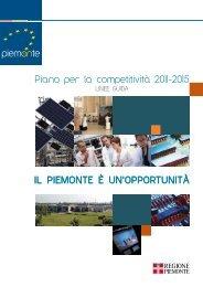 Il Piano per la competitività - Regione Piemonte