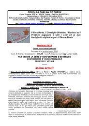 Fogolar furlan - newsletter numero 117 - Regione Piemonte