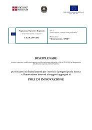 DISCIPLINARE POLI DI INNOVAZIONE - Regione Piemonte