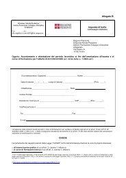 Domanda per acconciatore - Regione Piemonte