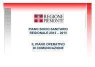 il piano operativo di comunicazione - Regione Piemonte