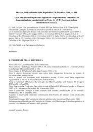 D.P.R. n. 445 del 28 dicembre 2000 - Regione Piemonte