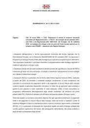 Deliberazione della Giunta Regionale n. 46/10 del 3 settembre 2008