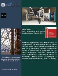 e-ArquiNoticias N° 16 nota N° 5 Ideal/Real envio argentino a la Bienal de Arquitectura de Venecia