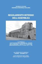 Regolamento Interno A.R.S. - Regione Siciliana
