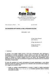 Vaccinazione anti-varicella nella Regione Siciliana