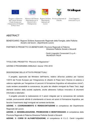 ABSTRACT - Regione Siciliana