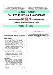 Bollettino Ufficiale Amtsblatt Regione Autonoma Trentino Alto Adige