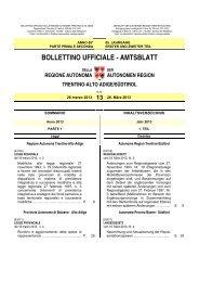 bollettino ufficiale - amtsblatt - Regione Autonoma Trentino Alto Adige