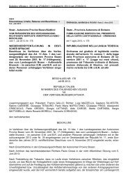 Staat - Autonome Provinz Bozen/Südtirol Stato - Provincia ...