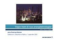 Vejen frem til nye energiteknologier v. Jens Rostrup-Nielsen
