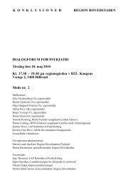 Konklusioner fra mødet den 18. maj 2010 - Region Hovedstaden