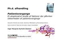 Hvordan sikres kvalitet i patientbehandlingen, når ansvaret for ...
