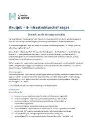 Akutjob - It-infrastrukturchef søges - Region Hovedstaden