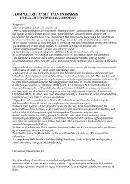 UKOMPLICERET CYSTIT I ALMEN PRAKSIS − ET ...