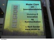 Innovation og kommunikation v. Berit Sander - Region Hovedstaden