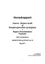 Hovedrapport Interne - Region Hovedstaden