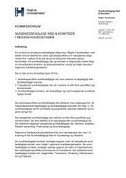 Se det fælles kommissorium for de sundhedsfaglige råd - Region ...