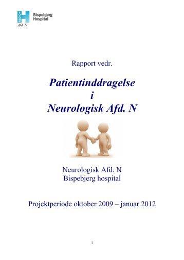 Patientinddragelse i Neurologisk Afd N - Region Hovedstaden