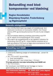 Bispebjerg, Frederiks- berg og Rigshospitalet - Region Hovedstaden