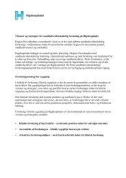 Visioner og strategier for sundhedsvidenskabelig ... - Rigshospitalet