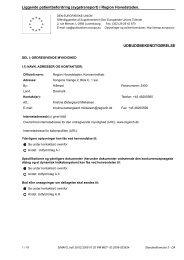 Udbudsbekendtgørelse vedr. sygetransport - Region Hovedstaden