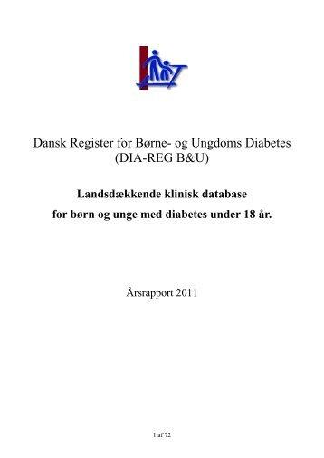 Dansk Register for Børne- og Ungdoms Diabetes - Sundhed.dk