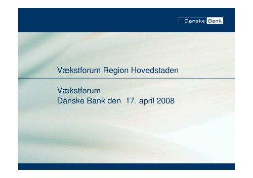 Præsentation af Danske Bank v. Lone Bille Schjødt - Region ...